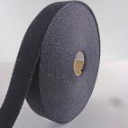 Cotton Webbing 23mm Black (by meter)