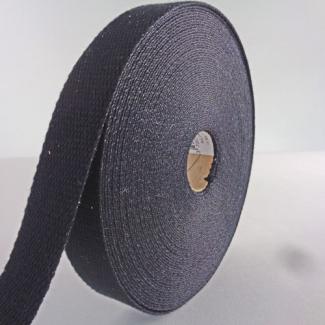 Sangle coton 23mm Noir (au mètre)