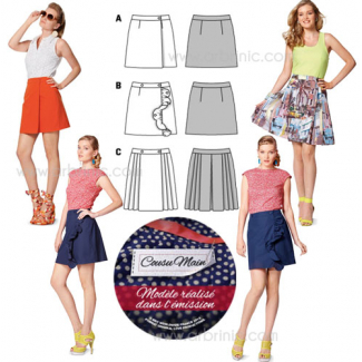 Burda Young 7049 Plaided Skirt Pattern
