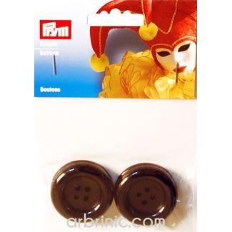 Plastic Buttons 35mm - Black (4 pieces)