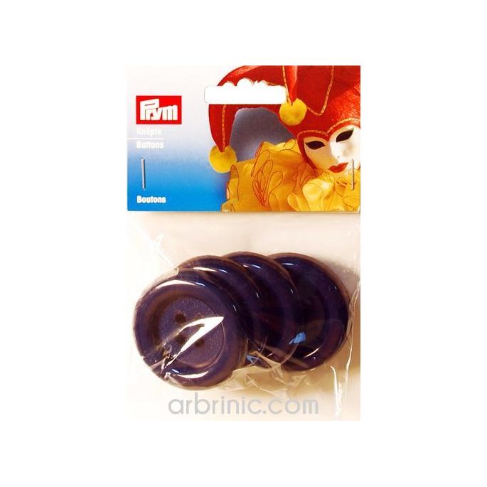 Boutons déguisement 50mm - Bleu Marine (4 boutons)