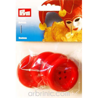 Plastic Buttons 50mm - Red (4 pieces)
