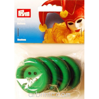 Plastic Buttons 50mm - Green (4 pieces)