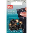 Bachelor buttons 16mm - Black Zeus (4 pieces)