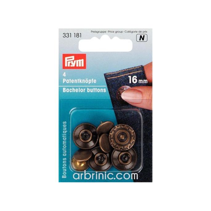 Bachelor button 16mm - Antique Aura (4 pieces)