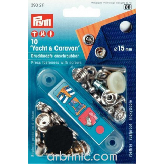 Press fasteners Hard Materials with tool (x10)