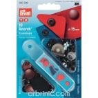 Boutons pression Anorak 15mm Laiton Cuivre avec outil (x10)