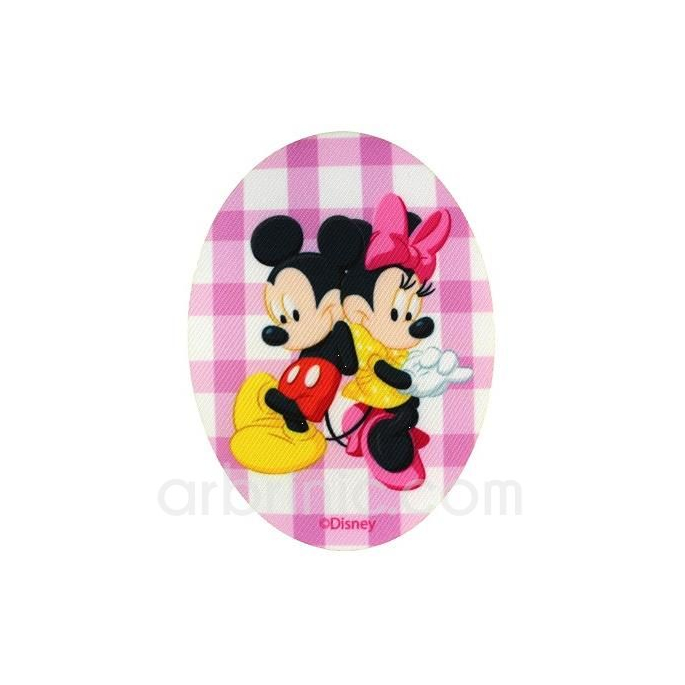 Ecusson imprimé Mickey Minnie