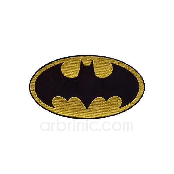 Large Iron-on Embroidery Patch Batman