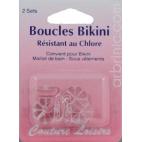 Boucles transparentes pour bikini (2 paires)