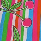 PUL Cotton -multicolored cherry(50x55)