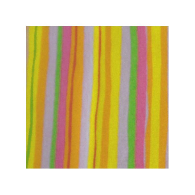 PUL Cotton -Green orange pink stripe(50x55)