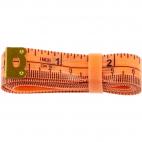 Centimètre couture souple avec élastique rangement 150cm ORANGE