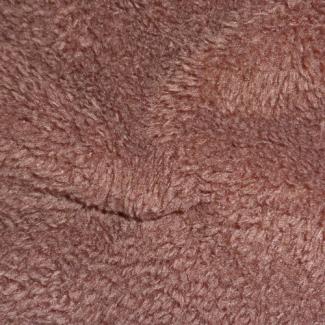 Teddy Oekotex - Chocolate - width 160cm (per meter)
