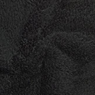 Teddy Oekotex - Black - width 160cm (per meter)