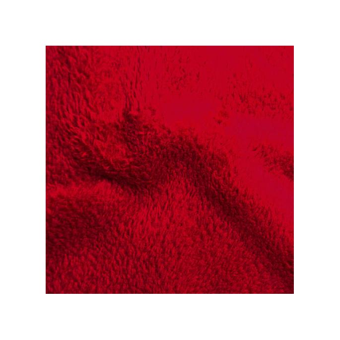 Teddy Oekotex - Red - width 160cm (per meter)