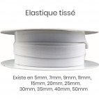 Woven Elastic White 9mm (25m roll)