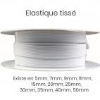 Elastique Tissé 11mm Blanc (bobine 25m)