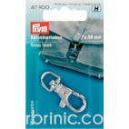 Snap hook 7x38mm Silver