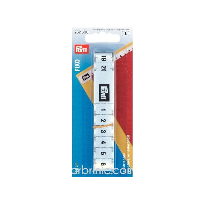 FIXO self-adhesive tape measure 150cm silver colored PRYM