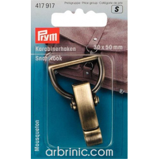 Snap hook 30x50mm Polished Bronze