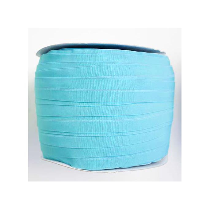 Biais élastique 2.5cm Bleu lagon (1m)
