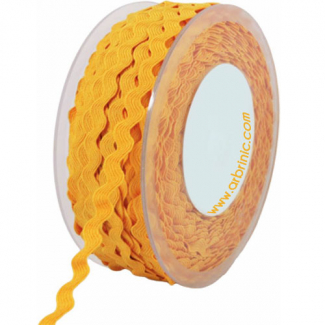 Ric rac 6mm Yellow (50m roll)
