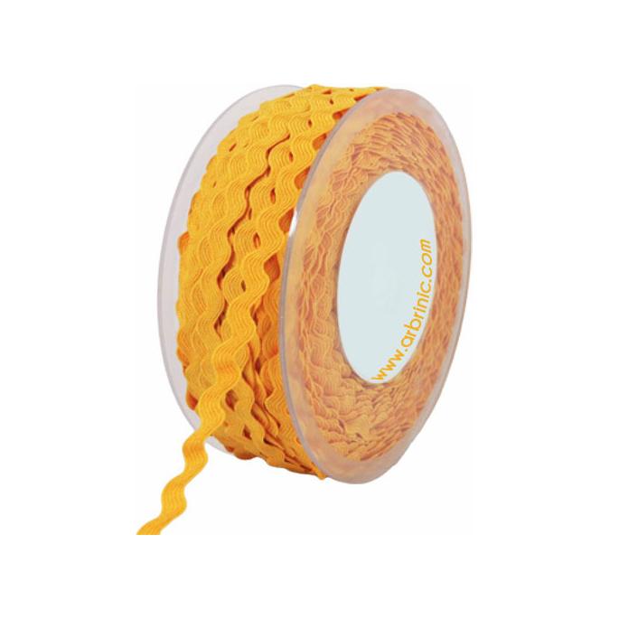 Croquet zigzag 6mm Jaune (bobine 50m)