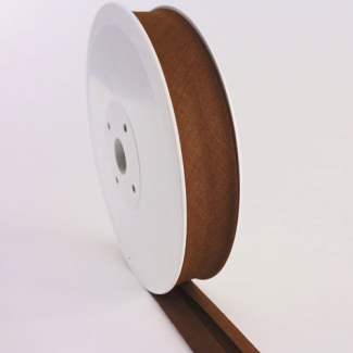 Single Fold Bias Binding 20mm Chocolate (25m roll)