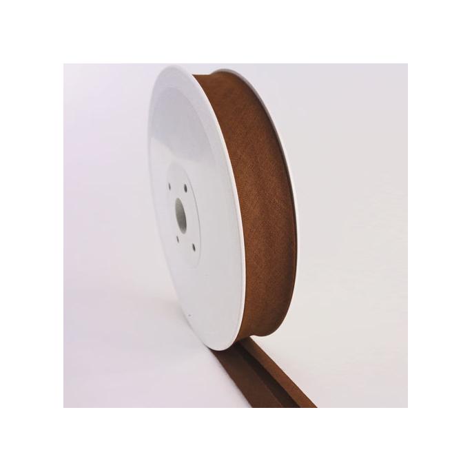 Single Fold Bias Binding 20mm Chocolate (25m roll)
