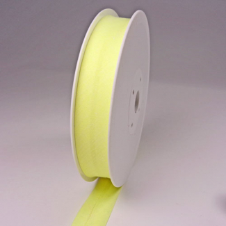 Single Fold Bias Binding 20mm Yellow (25m roll)