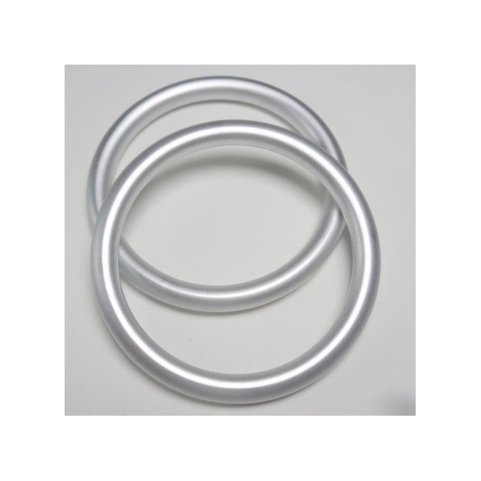 Sling Rings Matte Silver Size S (1 pair)