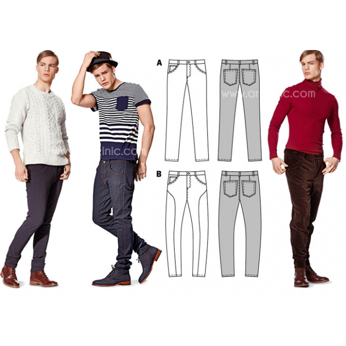 Burda Young 7138 Jeans & Pants Pattern