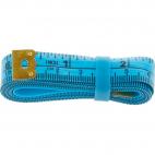Fiberglass Tape Measure with silicon band 150cm BLUE