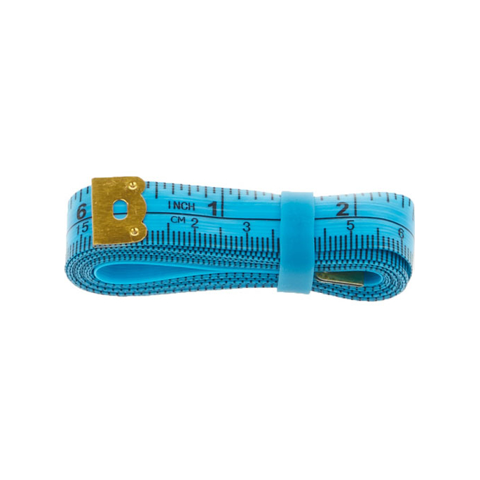Centimètre couture souple avec élastique rangement 150cm BLEU