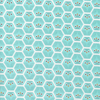Organic cotton Flannel print Dolittles Owl Cloud9