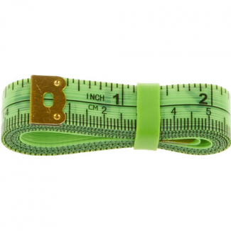 Fiberglass Tape Measure with silicon band 150cm GREEN