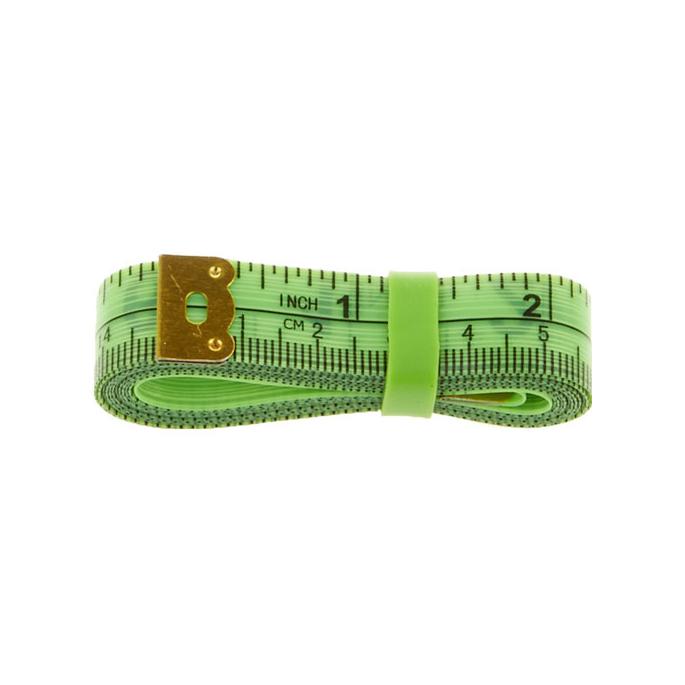 Centimètre couture souple avec élastique rangement 150cm VERT
