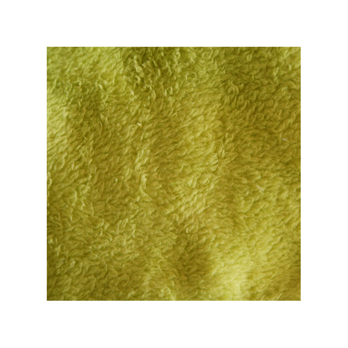 Teddy Oekotex - Moss green - width 160cm (per meter)
