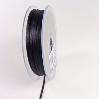 Rat tail cord 3mm Black (25m bobin)