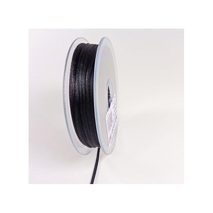 Rat tail cord 3mm Black (25m bobin)