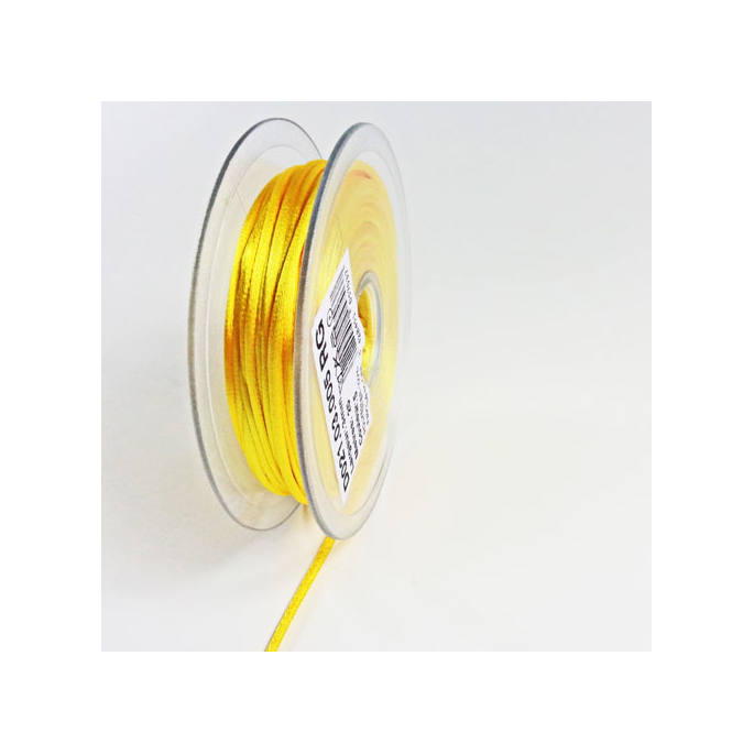 Rat tail cord 3mm Citron Yellow (25m bobin)