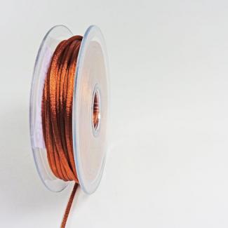 Rat tail cord 3mm Chocolate (25m bobin)