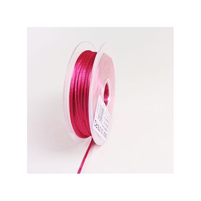 Rat tail cord 3mm Punch Pink (25m bobin)