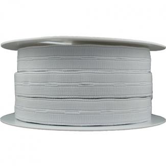 Elastique Boutonnière Blanc 20mm (bobine 25m)