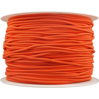 Thick Round Cord Elastic Orange (100m bobin)