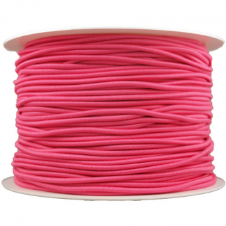 Elastique cordon 2mm Rose (bobine 100m)