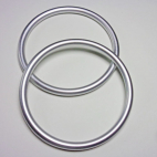 Sling Rings Matte Silver Size L (1 pair)