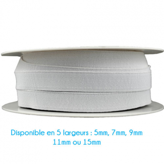 Soft Stretch Elastic White 11mm (25m bobin)