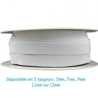 Elastique Bracelet 5mm Blanc (bobine 25m)